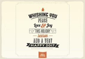 Wir wünschen Sie Peace, Love & Joy Vector