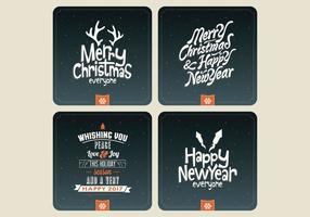 Night Sky Holiday Card Collection Vector