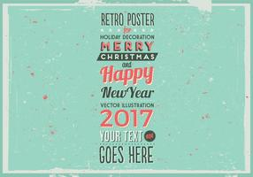 Aged Holiday Marquee Poster Vector