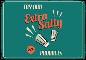 Retro Salty Food Sign