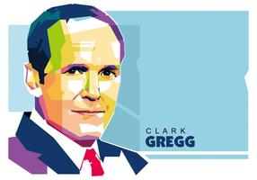Clark Gregg WPAP Porträt, Vektor