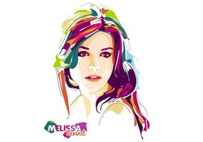 Melissa Benoist Vector Popart Portret
