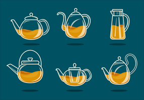 Minimalist Glass Teapot Vector