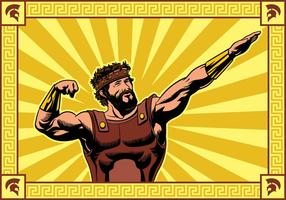 Hercules frappant un vecteur pose