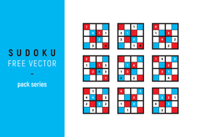 Sudoku Free Vector Illustration