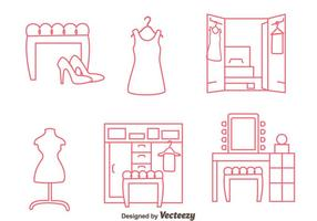 Dressing Room Line Vectors