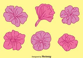 Purple Petunia Flowers Vectors