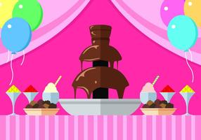 Chocolate Fountain Party Gratis Vector