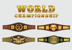 Campeonato Mundial de Belt Vector Pack