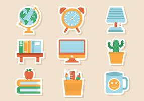 Gratis Studie en Room Icons Vector