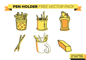 Pen Holder Gratis Vector Pack