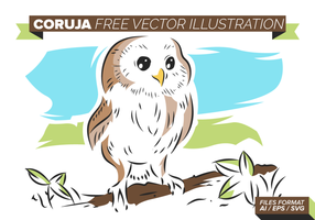 Coruja gratis Vector Illustration