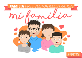 Familia Gratis Vector Illustration