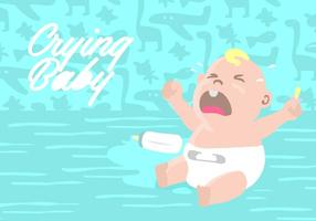 Crying Baby Background vector