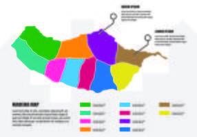 Madeira Kaart Infographic