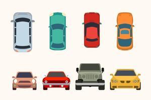 Colección de coches Vector plana
