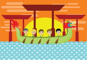 Art Festival Dragon Boat Vector