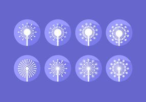 Modern Flat Icoon Blowball Gratis Vector