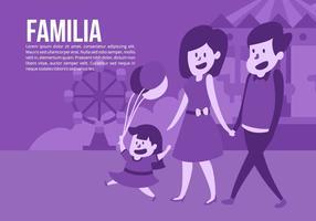 Familie im Zirkus-Vektor Hintergrund