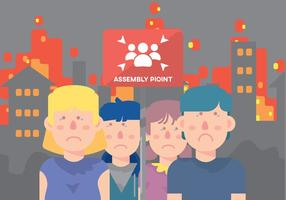 Sad Kinderen Op Assembly Point