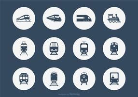 Doce ferrocarril iconos vectoriales