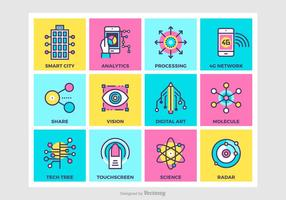Bright Vector Technology Concepts