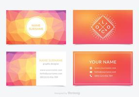 Template Résumé Business Card Colorful Vector Set