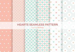 Pastel Heart Seamless Vector Patterns