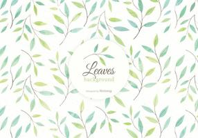 Watercolor Leaves And Branches Vector Background