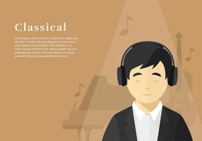 Head Phone Listening Classical Free Vector