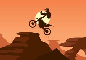 Bike Trail Jump Free Vector