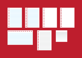 Paper Block Notes Vector