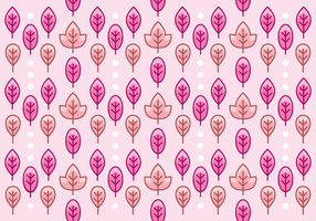 Pretty Pink Leaf Pattern Background