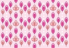 Fondo rosa grazioso del modello della foglia