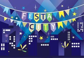 Festa Feiern in der Stadt Vector