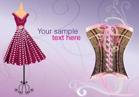 Retro Corset Background vector