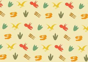 Vector Dinosaur Footprint Pattern
