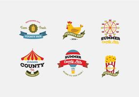 Vector county fair icon set