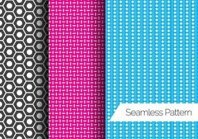 Three Seamless Pattern Vectors