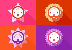 Girly Racing Fuel Gauges vector