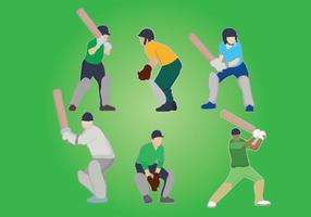 Cricket vector del jugador