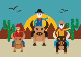 Bull Rider Vector gratuito
