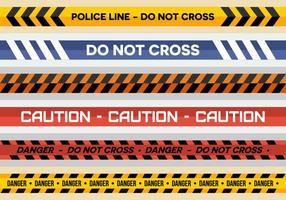 La línea de policía libre de vectores