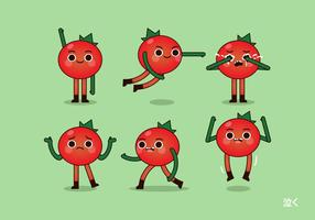 Vector Tomato and Poses