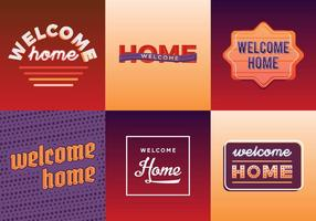 Gratis Welcome Home Vector Pack