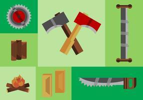 Registros de madera libre de Vector Pack
