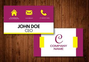 Elegant Visiting Card
