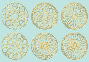 Laser Cut Circles vector