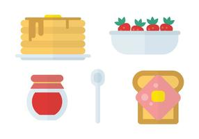 Platt Icon frukost Vektorer