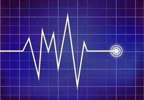 Ekg di vettore del monitor del cuore